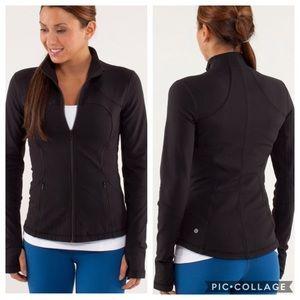 Lululemon Forme Jacket Solid Black Size 6